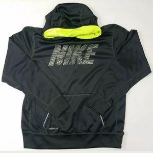 Boys Nike Hoodie SZ XL Gray Neon Mesh Hood Lining